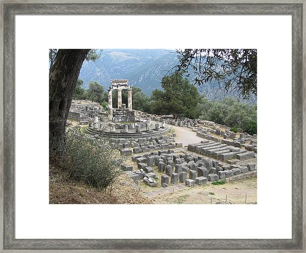 Temple Of Athena At Delphi Framed Print