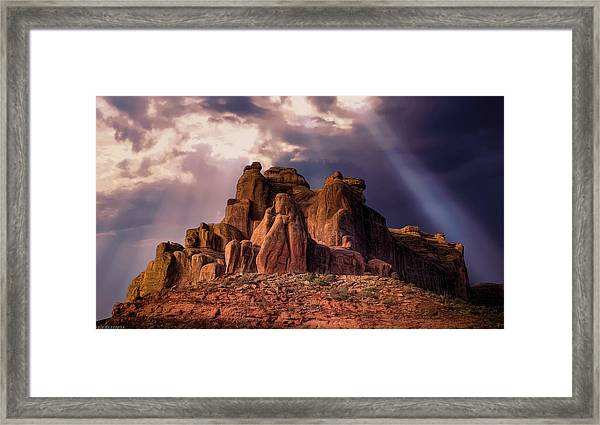 Temple Of Red Stone Framed Print