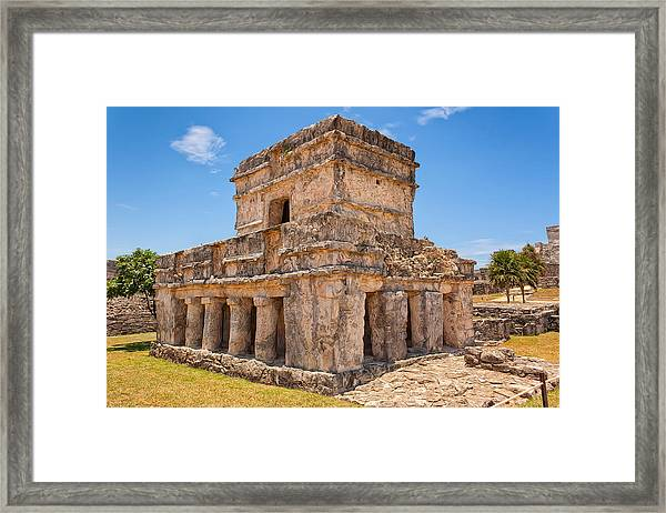 Temple Of The Frescos Framed Print