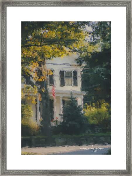 Ten Lincoln Street, Easton, Ma Framed Print