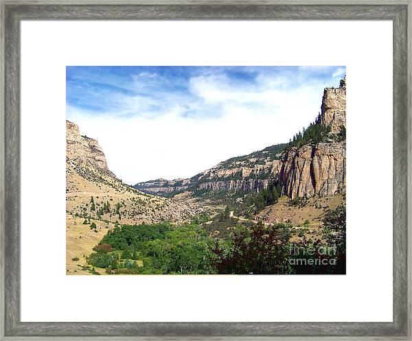 Ten Sleep Canyon -2 Framed Print