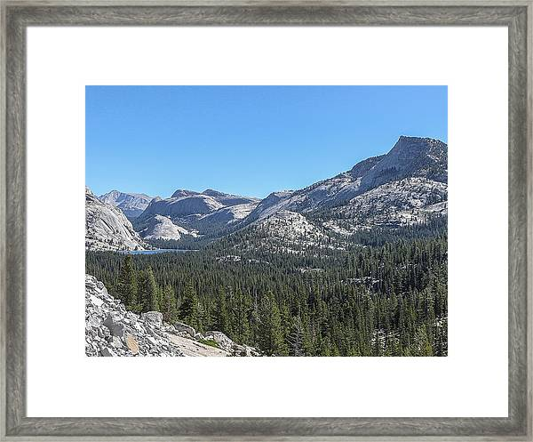 Tenaya Lake And Surrounding Mountains Yosemite National Park Framed Print