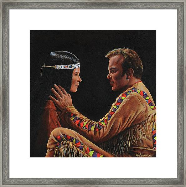 Tenderness In His Touch Framed Print