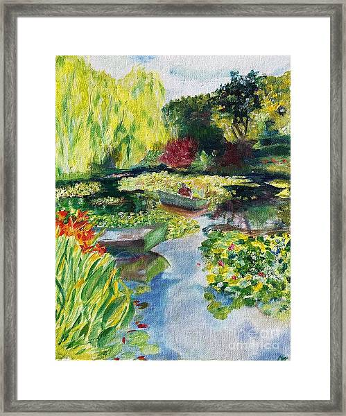 Tending The Pond Framed Print