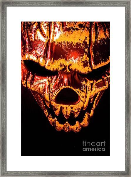 Tendon Terror Framed Print