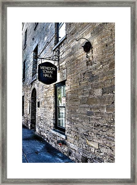 Mendon Town Hall Framed Print