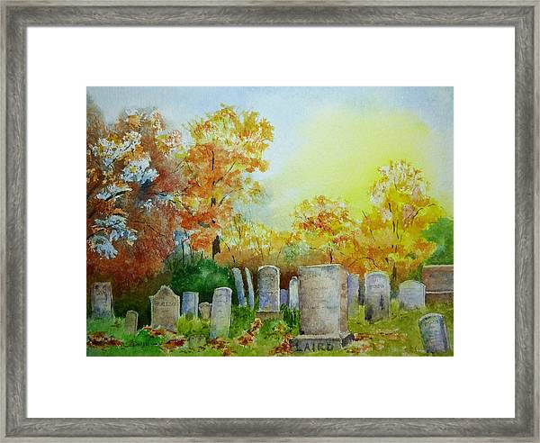 Tennant Cemetery New Jersey Framed Print