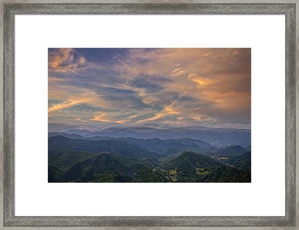 Tennessee Mountains Sunset Framed Print