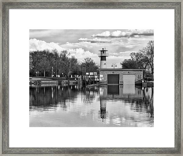 Tenney Lock 3 - Madison - Wisconsin Framed Print