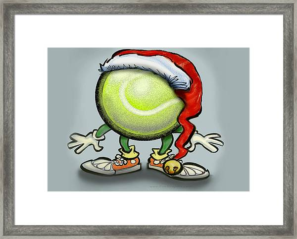 Tennis Christmas Framed Print
