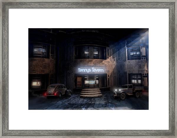 Tenny's Tavern Framed Print