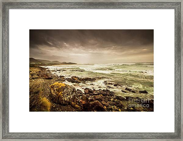 Tense Seas Framed Print
