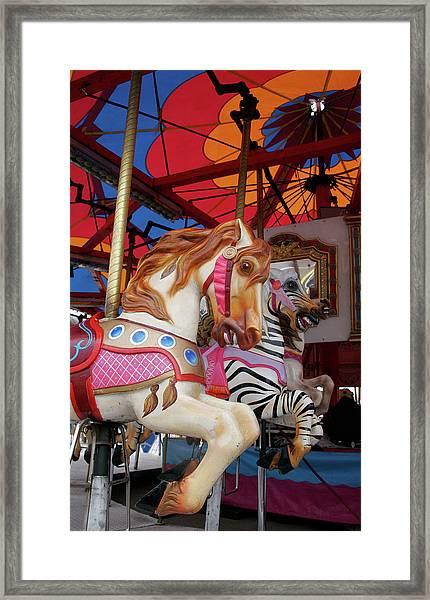 Tented Carousel Framed Print