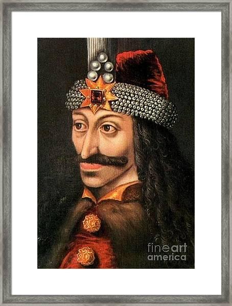 Tepes Vs Dracula Framed Print