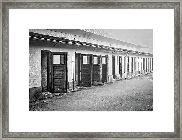 Terezin Cell Block Doors Framed Print