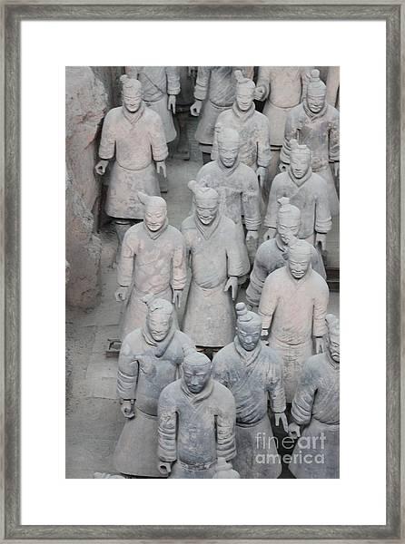 Terra Cotta Warriors Detail Framed Print