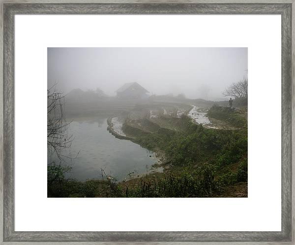 Terraces In Sa Pa Village Vietnam Framed Print