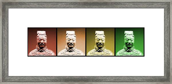 Terracotta Warrior Army Of Qin Shi Huang Di - Royg Framed Print