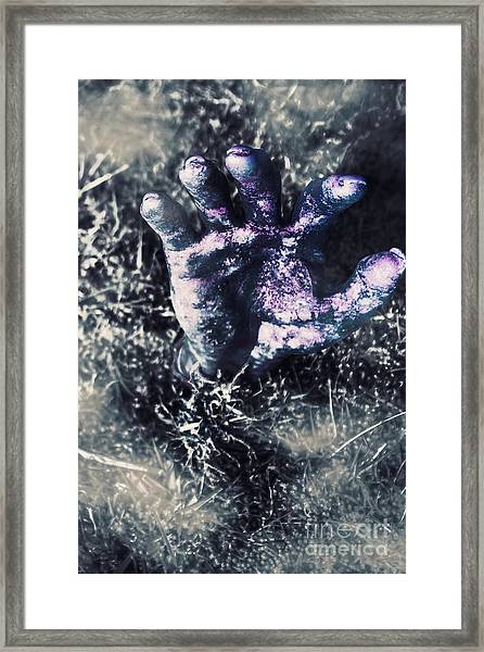 Terror From The Crypt Framed Print