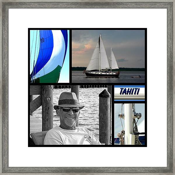 Tahiti Square Collage Framed Print