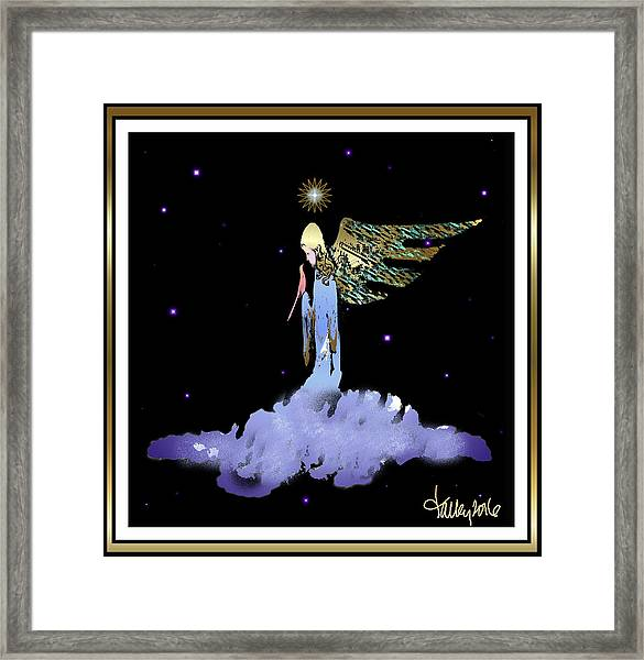 Framed Print featuring the painting Heavenly Visit by Larry Talley