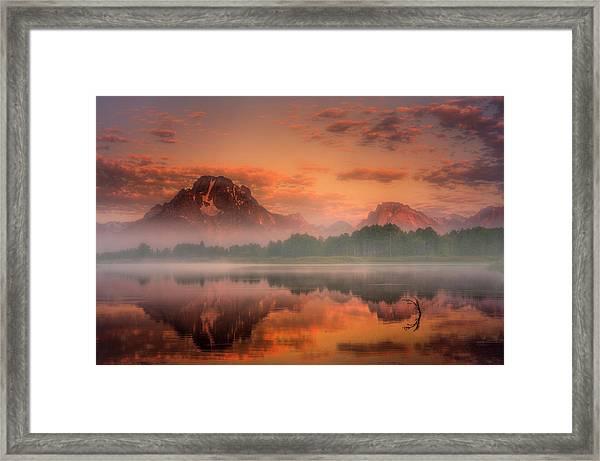 Teton Mist Framed Print