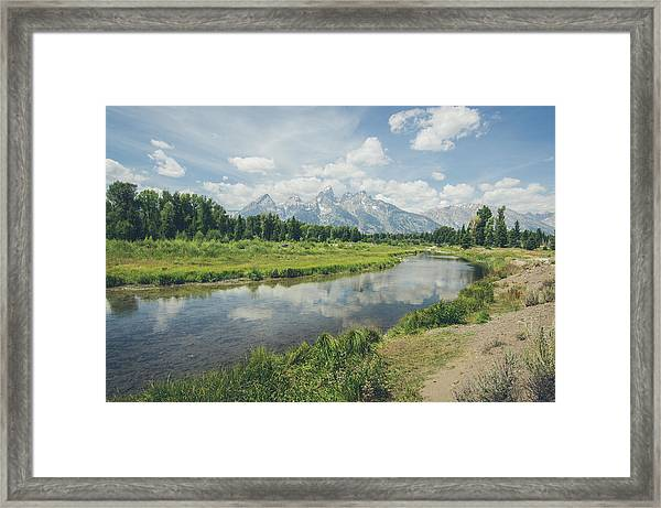 Teton Reflections Framed Print