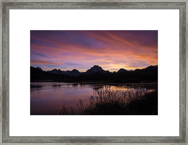 Teton Sunset Framed Print