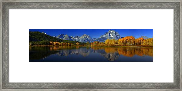 Tetons From Oxbow Bend Framed Print