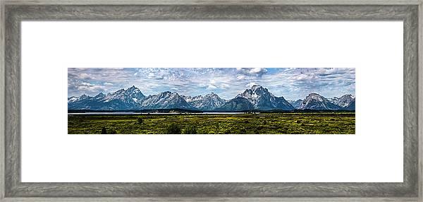 Tetons - Panorama Framed Print
