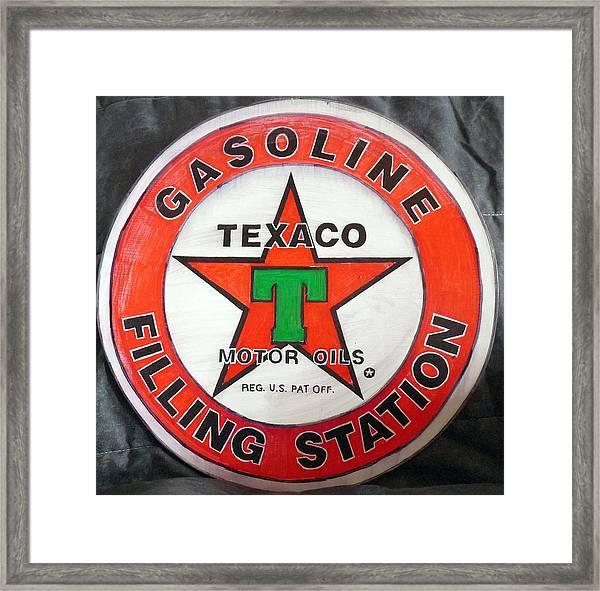 Texaco Sign Framed Print