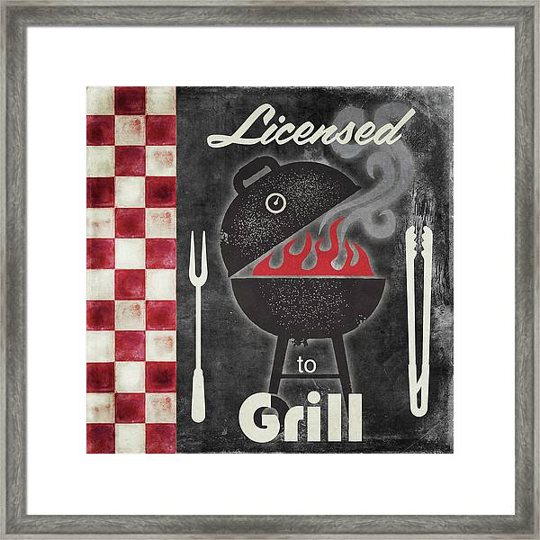 Texas Barbecue I Framed Print