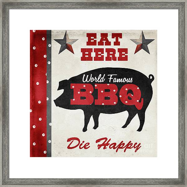 Texas Barbecue II Framed Print