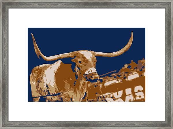 Texas Bevo Color 6 Framed Print