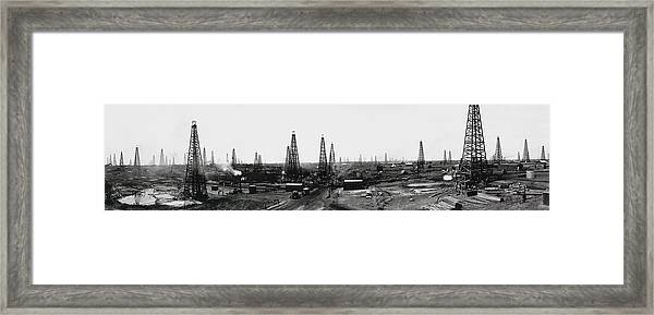 Texas Crude 1919 Framed Print