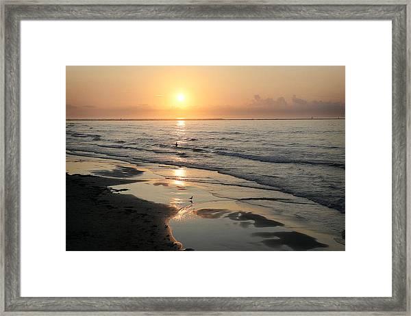 Texas Gulf Coast At Sunrise Framed Print