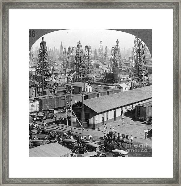 Texas: Oil Field, 1930 Framed Print