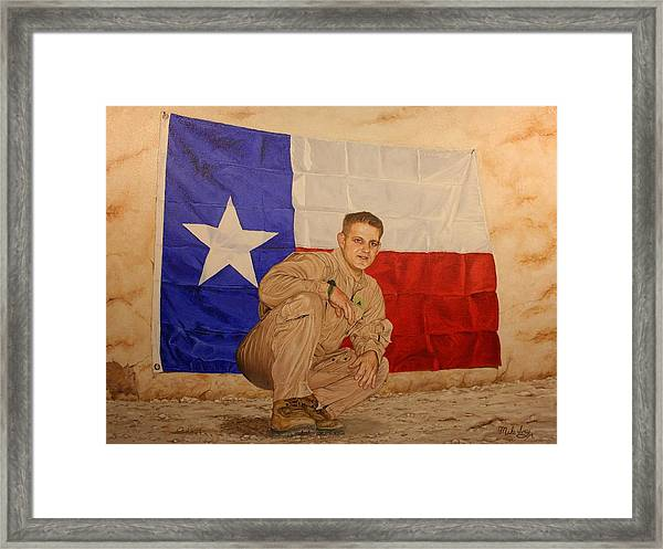 Texas Pride Framed Print
