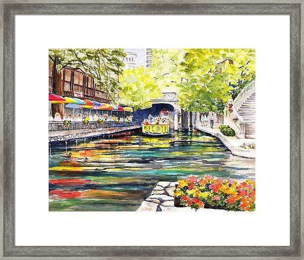 Texas San Antonio River Walk Framed Print