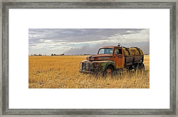Texas Truck Ws Framed Print by Peter Tellone