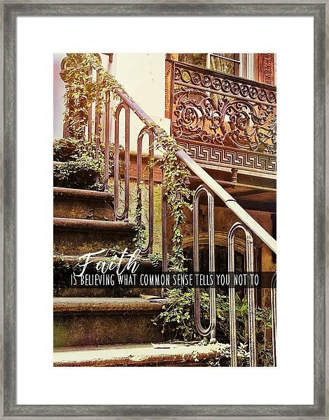 Texture Of Savannah Quote Framed Print by JAMART Photography