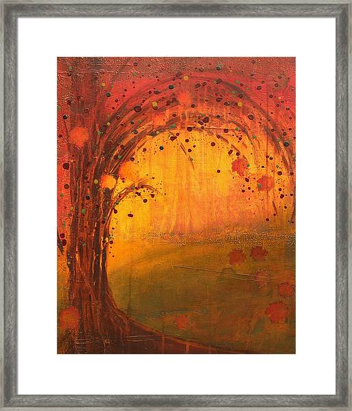 Textured Fall - Tree Series Framed Print