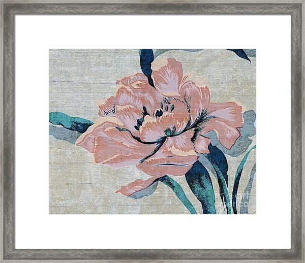 Textured Floral No.2 Framed Print