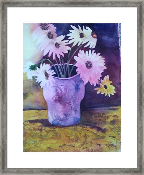 Textured Vase Framed Print