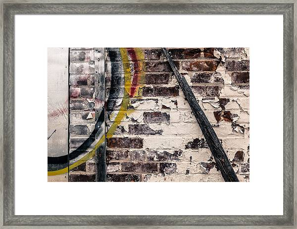 Textures Are Talking  Framed Print