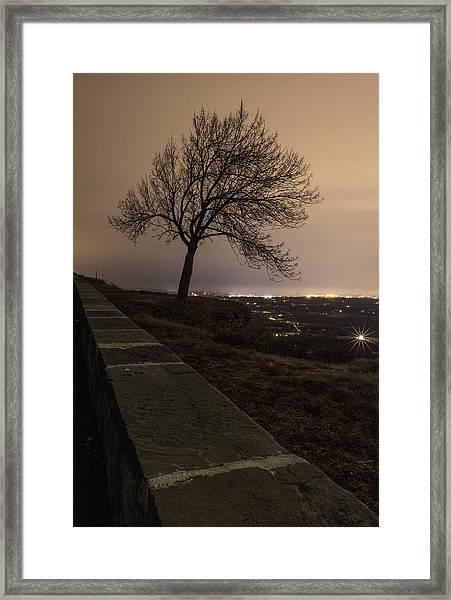 Thacher Park Twilight Framed Print