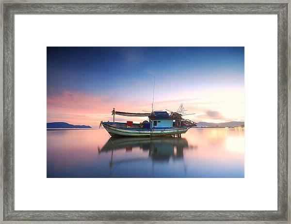 Thai Fishing Boat Framed Print