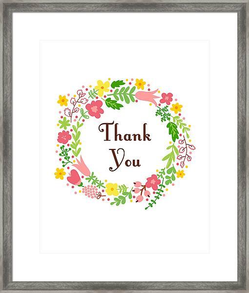 Thank You Card Framed Print