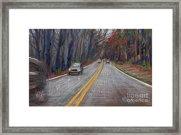 Thanksgiving Drive Framed Print