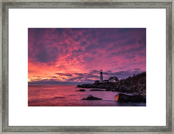 Thanksgiving Sunrise Framed Print